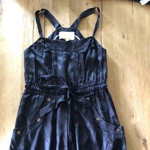 Dark navy satin dress , Leifsdottir size 6.